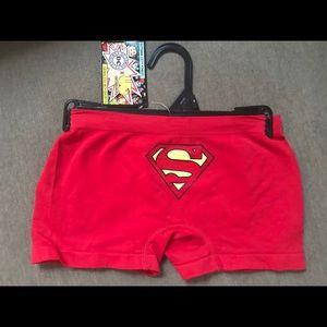 DC Comics Women's Superman Boy Short Small